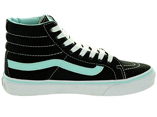 Vans Sk8-Hi Checkerboard, Unisex - Erwachsene Sportschuhe -Skateboarding BLACK/BLUE TINT