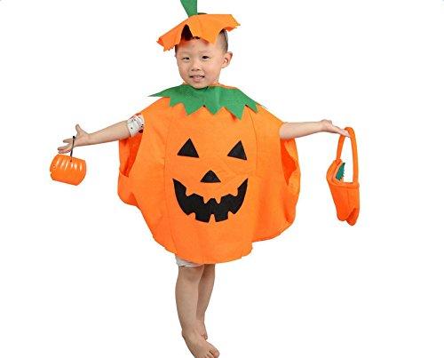 Qingsun Halloween-Kostüm-Parteikleidung Kinder Kürbis Modellierung Kürbis Kleidung (Kostüme Sun)