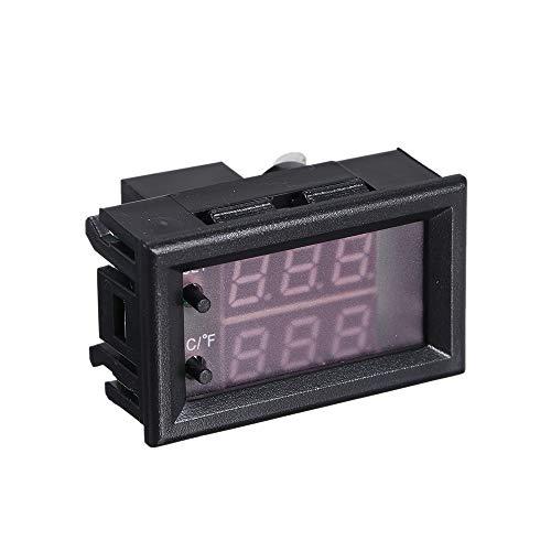 Docooler DC 12V Digitaler Thermostatregler Programmierbarer LED-Mini-Thermostat Einstellbares Mikrocomputersteuerungsthermometer für Wassertemperatursteuerung, Brutschränke