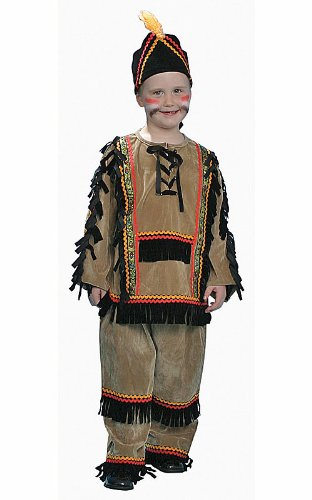 Indian Kostüm Boy (Dress Up America 208 Deluxe Indian Boy Kostüm Set,)