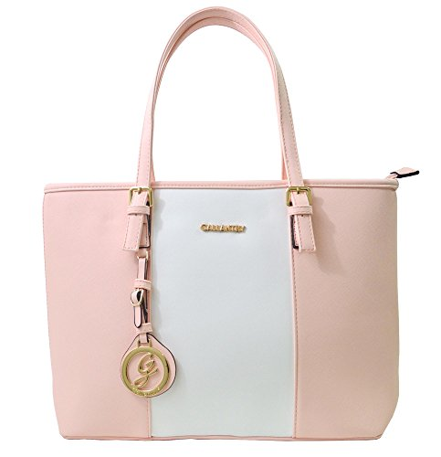 Gallantry - Sac de cours Cabas FEMININ (Rose/Blanc/Rose)