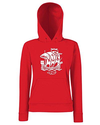 T-Shirtshock - Sweats a capuche Femme TM0025 bremen citta Rouge