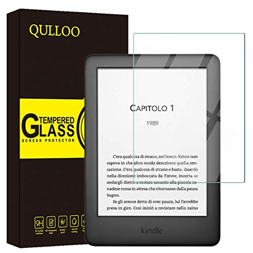 QULLOO Panzerglas für Kindle Paperwhite 2019 Panzerglas Schutzfolie Film 9H Tempered Glass Hartglas HD Displayschutzfolie Panzerglasfolie Handy Schutzglas Glasfolie für Kindle Paperwhite 2019