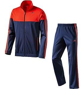 Adidas Survêtement pour homme emblématique, Homme, bleu marine/rouge