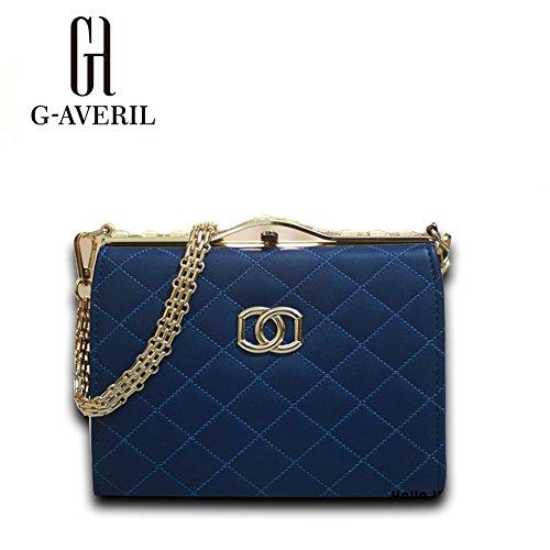 (G-AVERIL) Borsa a Mano Spalla Donna Elegante Pelle Ragazza Grande Borsetta Borsa Tote Shopping Bag Handbag for Women Blu scuro