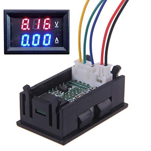 jumpeasy neue auto digitale praktische rote + blaue led 100v 100a dc ampèremeter messgerät amp volt meter