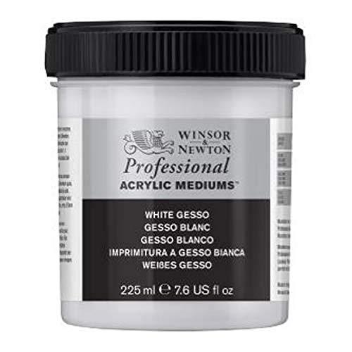 Winsor & Newton 3040920 Weisses Gesso, Grundierung für Acrylfarben, Ölfarben, Alkydfarben - 225ml Topf