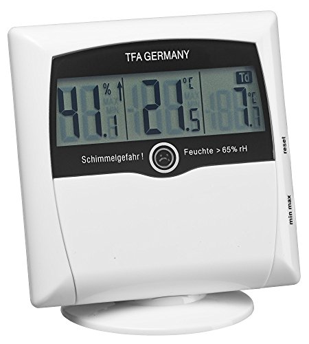 TFA Dostmann digitales Thermo-Hygrometer Comfort Control 30.5011 (weiß)