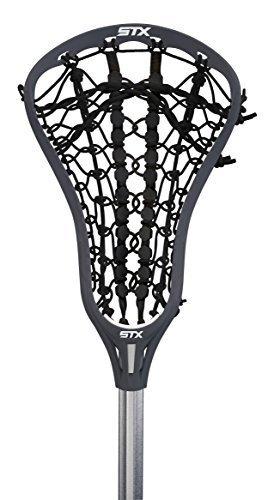 STX Lacrosse Women's EXULT 300 Complete Stick Graphite Gray Head and Black Runway Pocket on STX 7075 Handle by STX