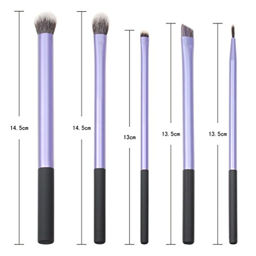 Fashion Base� Mix 5pcs Synthetic Professional beauty purple Makeup Brushes set make up brush for lip eye shadow powder maquiagem