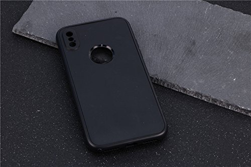 iPhone X Hülle, Chickwin 360 Grad TPU Silikon Schutzhülle Full Package Soft Shell Schutzhülle mit Anti-Rutsch Kratzfest Handyhülle (Schwarz) (Herren Justin Cognac)