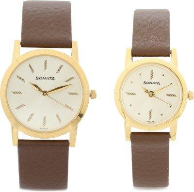 416M5oapubL - Sonata 71178137YL01 Couples watch