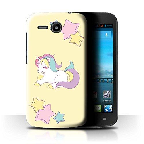 Stuff4® Hülle/Case für Huawei Ascend Y600 / Pony Sterne Muster/Einhorn/Unicorn Kollektion