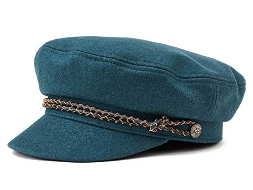 Brixton Ashland Elbseglermütze Schiffermütze Kapitänsmütze Mütze Cap Kappe Schildmütze Ballonmütze Wollcap (54 cm - Petrol)