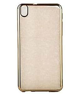 Evoque Transparent Back Cover For HTC Desire 626G Plus -Golden