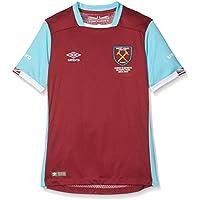 Umbro Boy's West Ham Home Short Sleeve Replica Jersey