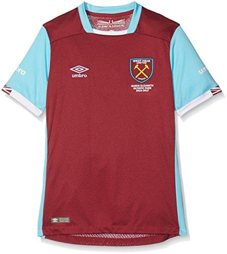 74ea4dd62f524 Umbro niño West Ham – Réplica de la camiseta de manga corta Home jóvenes