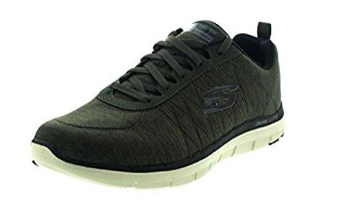 Skechers Flex Advantage 2.0 CHILLSTON Sneaker in Übergrößen Grün 52186 OLV große Herrenschuhe, Größe:46 -