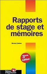 Rapports de stages et mémoires