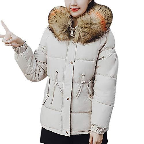 TianWlio Mäntel Frauen Weihnachten Damen Mantel Langarm Strickjacke Jacke Outwear Herbst Winter Winter Warme Kunstpelz mit Kapuze Kurze Dünne Baumwolle Gefütterte Jacken Mantel