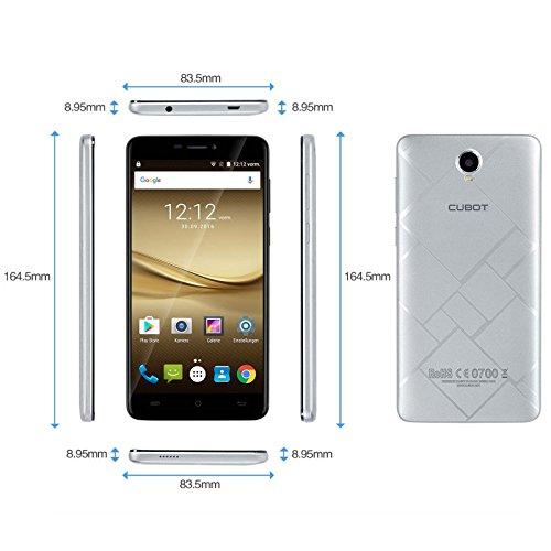 Cubot Max - Smartphone libre Android 6 0   tel  fono grande de 6 0    15 2cm  y pantalla IPS HD  4G Dual SIM  Micro Sim   octacore de 64 bits 1 3 GHz