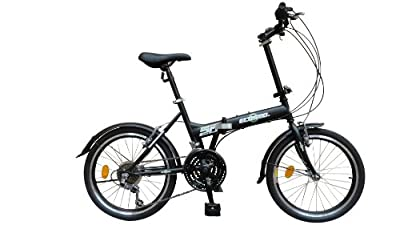"ECOSMO 20"" Brand New Folding City Bicycle Bike 21SP - 20F03BL"
