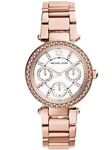 Michael Kors Damen Analog Quarz Uhr mit Edelstahl Armband MK5616
