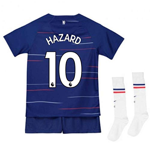 UKSoccershop 2018-2019 Chelsea Home Nike Little Boys Mini Kit (Eden Hazard 10)