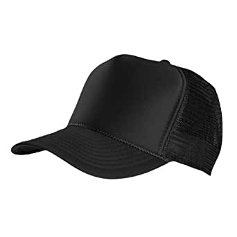 MASTERDIS casquette trucker high profilés, noir, taille unique