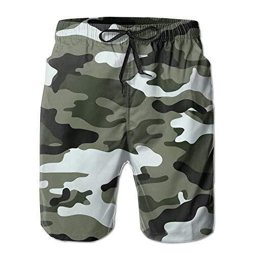 Gap Knit Pants (fjfjfdjk Funny Sunshine Boys Men's Camouflage Summer Quick-Drying Swim-Trunk Shorts Pants XX-Large)