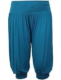 Purple Hanger - Damen Ali Baba Harems Hose Stretch Weite Hosen Kurz Shorts  Übergrößen 9f1bb7fa80