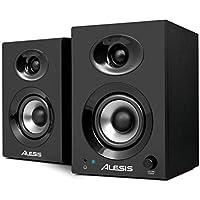 Alesis Elevate 3 MKII - Pareja de altavoces de escritorio y monitores de estudio amplificados, para producción musical, PC/Mac, multimedia, juegos, 60W