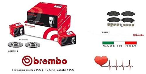 09869514-P61082 Kit Dischi e Pastiglie Freno Anteriori Brembo