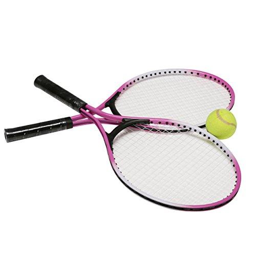 Kurtzy Set of 2 Hi-Quality Kids Tennis Racket With One...