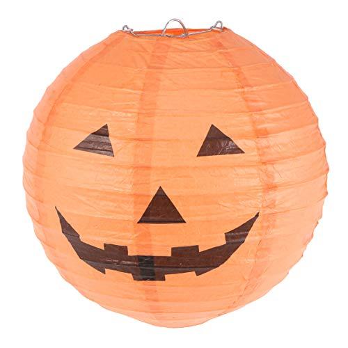 Mobestech orange papierlaterne kürbislaterne Jack o Laterne papierlaterne runde Laterne Lampe Halloween Dekoration 20cm