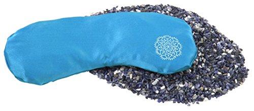 INNER JEWELS HARMONY, Weiches Augenkissen, Feine Seide mit Halbedelsteinen, himmel-blau, Sodalith-Lavendel-Füllung, für Yoga, Entspannung & Meditation