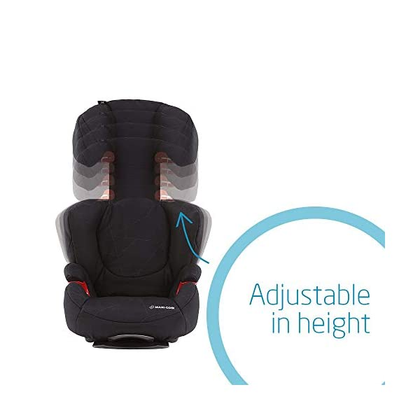 Maxi-Cosi Rodi Air Protect Car Seat, Group 2/3, Black Diamond Maxi-Cosi Forward facing group 2/3 car seat suitable for children from 15 to 36 kg (approx. 3.5 to 12 years) Patented airprotect side impact technology integrated into headrest, protects child's head in case of collision Retractable isofix connectors lock the car seat to the body of the car, ensuring stability and ease of use [ ISOFIX not included ] 5