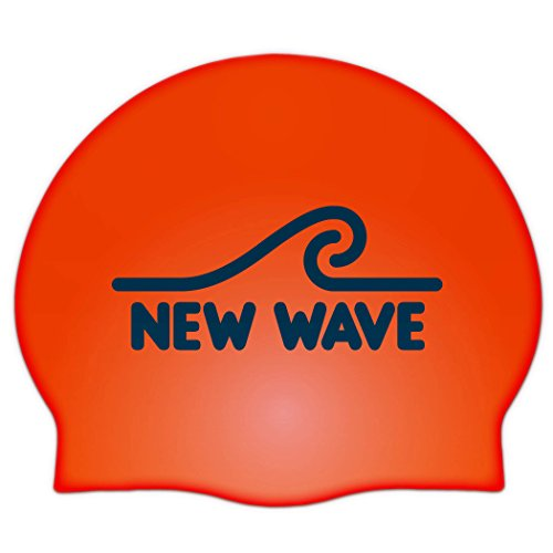 Wave Pool Float (New Wave Swim Buoy Silicone Swim Cap (Orange))