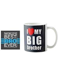 Yaya Cafe™ Birthday Bhaidooj Gifts for Brother I Love My Big Brother Quote Printed Mug 330 ml Birthday Bhaidooj