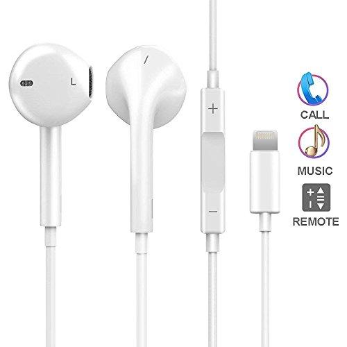 Uomyz lightning earphones, earbuds microfono incorporato e controllo del volume, per iphone 7/7 plus iphone8 / 8plus iphone x -connessione bluetooth
