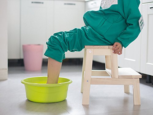 Scaletta in legno massello panca per calzature per adulto sgabello