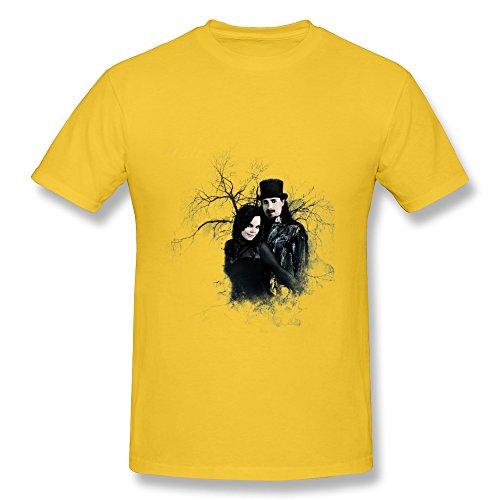 Uomo's Power Metal Nightwish T-Shirt- Yellow