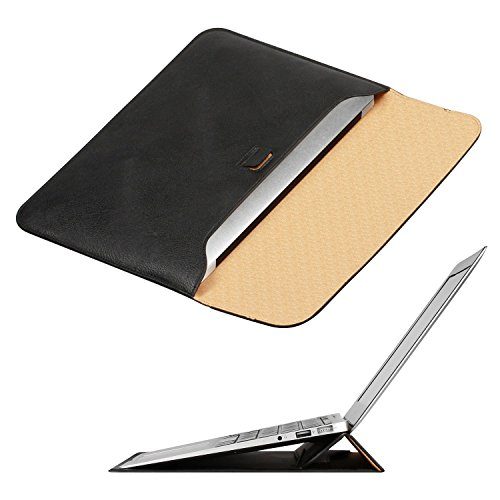 OMOTON Macbook Air 13 Pulgadas Funda con Soporte ,Color de Negro ,Ultrafino bolsa Para Macbook Air 13 Pulgadas