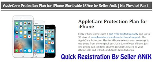 AppleCare Protection Plan for iPhone & iPad Worldwide [E-Registration by Seller Anik | No Physical Box] (iPhone)