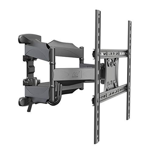 TV-Ständer Wohnzimmer TV-Wandhalterung neigbares HDTV-Drehgestell volldynamischer Gelenkarm VESA Bis zu 400 * 400 mm (Color : Black, Size : 40 * 40 * 5cm)