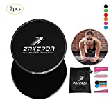 Funihut 2pcs Disques de Glisse Core Sliders Gliding Discs Équipement d'exercice pour Yoga, Pilates, Crossfit, Gymnase, Équipement de Gymnastique Abdominale Sports