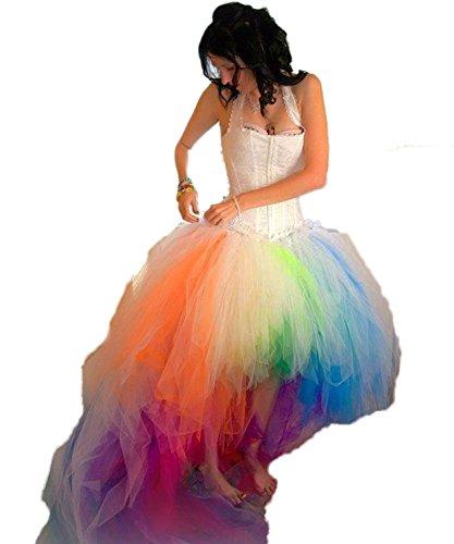 JCgirls Schatz Bunt Brautmoden Regenbogen Meerjungfrau Hochzeitskleid Prom Ballkleid (Bunt, 40)