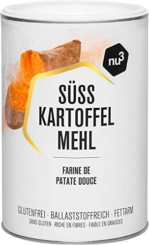 nu3 Süßkartoffelmehl – 500g aus frischen Süẞkartoffeln – für glutenfreies und veganes Backen – passt zur Paleo-Ernährung – nur 2% Fettgehalt – 100% natürlich – glutenfreie Alternative zu Weizenmehl