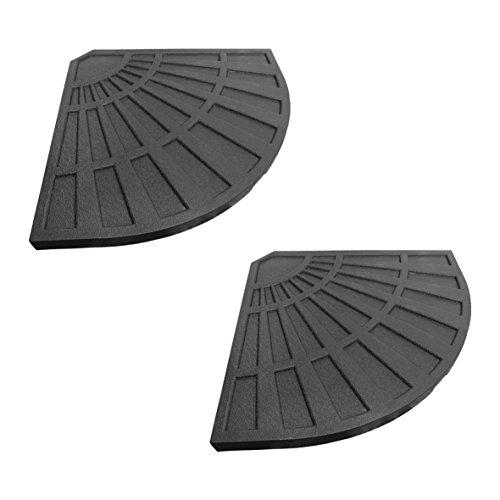 Garden kraft 169102rivestito in plastica, base per ombrellone in cemento riempito pesi–nero ( pezzi)