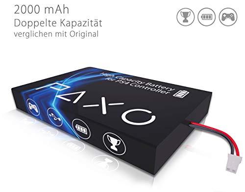 High-Performance Li-Ionen Akku 2000mAh für PS4 Controller Version 4 // Austausch Set mit Foto-Anleitung und Werkzeug zum Öffnen des Controllers -